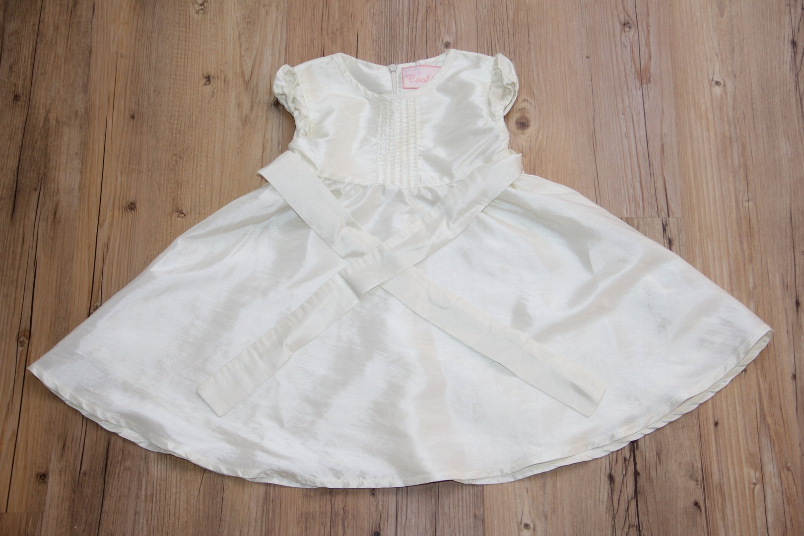 cremefarbenes Kleid - Coolclub - Gr. 18