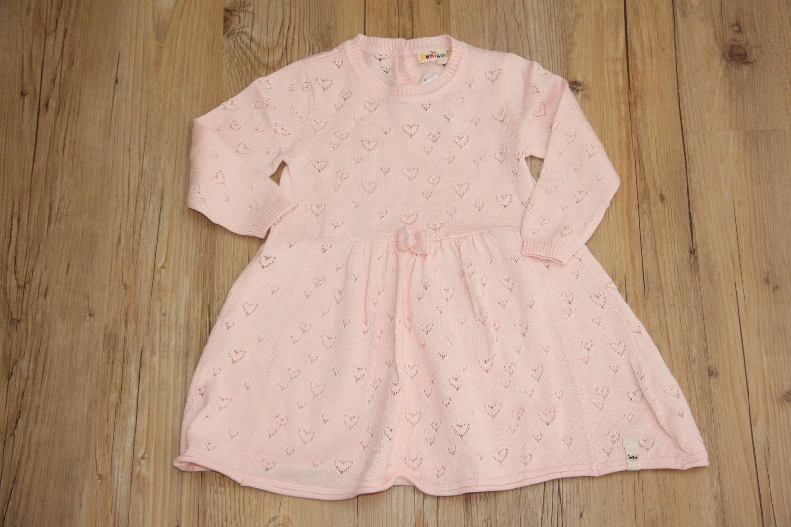 rosa Kleid mit Herzchen - Gr. 74/80 - 2nd Händchen